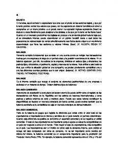 BAJISTA BALANCE BALANCE BALANZA CAMBIARIA BALANZA COMERCIAL
