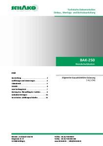 BAK-250 Brandschutzkasten