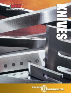 BAK-PAK AND EURO BAK-PAK CARBIDE KNIFE SYSTEMS
