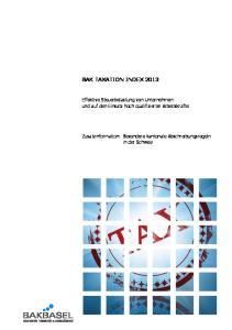 BAK TAXATION INDEX 2013