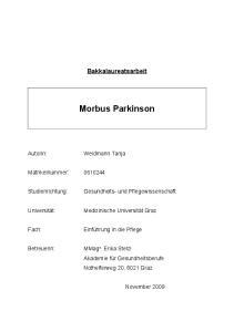 Bakkalaureatsarbeit Morbus Parkinson