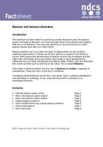 Balance and balance disorders