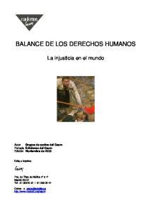 BALANCE DE LOS DERECHOS HUMANOS