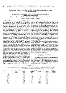 BALANCE DEL POTASIO EN LA DESHIDRATACION AGUDA DEL LACTANTE