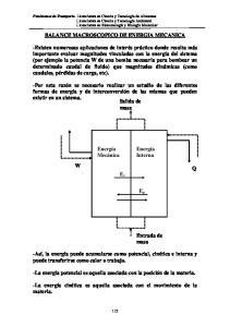 BALANCE MACROSCOPICO DE ENERGIA MECANICA