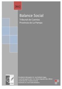 Balance Social Tribunal de Cuentas Provincia de La Pampa