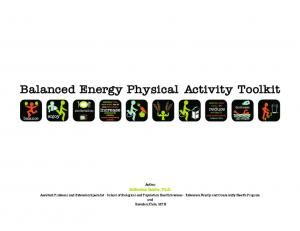 Balanced Energy Physical Activity Toolkit