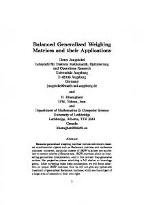 Balanced Generalized Weighing Matrices and their Applications