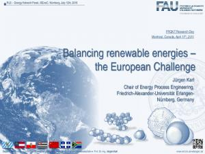 Balancing renewable energies the European Challenge