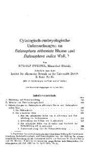 Balanophora abbreviata Blume und Balanophora indica Wall. 1)