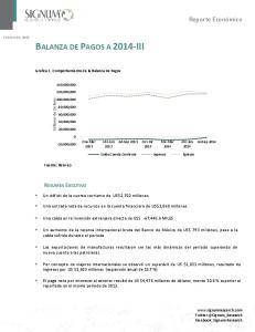 BALANZA DE PAGOS A 2014-III