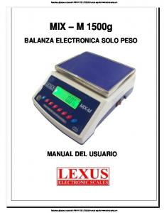 BALANZA ELECTRONICA SOLO PESO