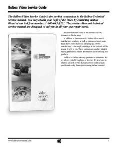 Balboa Video Service Guide
