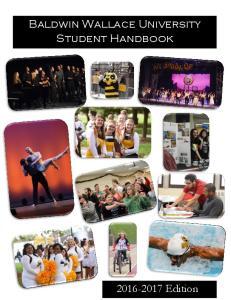 Baldwin Wallace University Student Handbook
