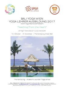 BALI YOGA WIEN YOGA LEHRER AUSBILDUNG h Yoga Alliance zertifiziert