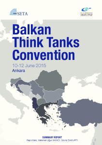 Balkan Think Tanks Convention