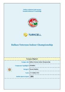 Balkan Veterans Indoor Championship