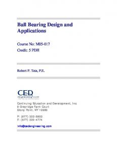 Ball Bearing Design and Applications