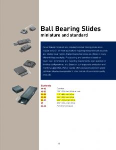 Ball Bearing Slides miniature and standard