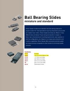 Ball Bearing Slides miniature and standard