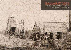 BALLARAT 2013 PTY DOUGLAS STEWART FINE BOOKS LTD MELBOURNE AUSTRALIA