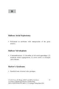 Balloon Atrial Septostomy