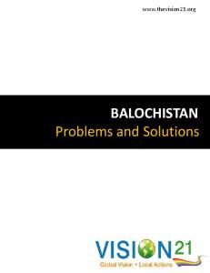BALOCHISTAN Problems and Solutions