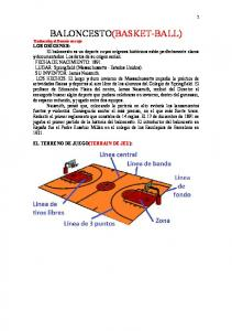 BALONCESTO(BASKET-BALL)