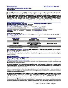 BALONGA INVERSIONES, SICAV, S.A. BALONGA SICAV