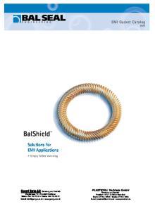 BalShield. Solutions for EMI Applications. EMI Gasket Catalog DM8. Simply better shielding