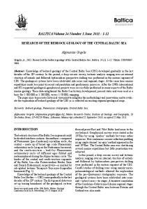 BALTICA Volume 24 Number 1 June 2011 : 1-12