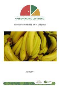 BANANA: comercio en el Uruguay