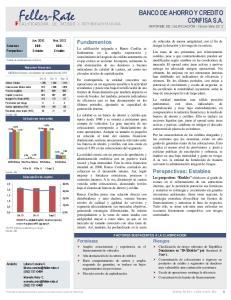 BANCO DE AHORRO Y CREDITO CONFISA S.A