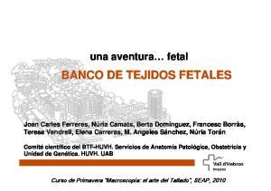 BANCO DE TEJIDOS FETALES