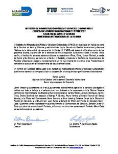 Banco Mundial Agencia de los Estados Unidos para el Desarrollo Internacional Banco Interamericano de Desarrollo