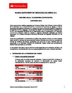 BANCO SANTANDER DE NEGOCIOS COLOMBIA S.A