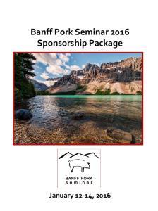 Banff Pork Seminar 2016 Sponsorship Package