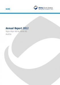 bank Annual Report 2012 Hypo Alpe-Adria-Bank AG Austria
