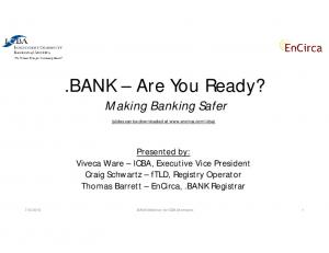 BANK Are You Ready? Making Banking Safer