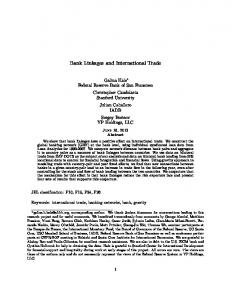 Bank Linkages and International Trade