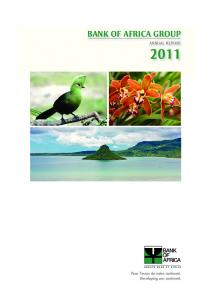 BANK OF AFRICA GROUP ANNUAL REPORT