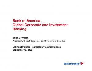 Bank of America Global Corporate and Investment Banking