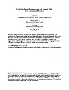 Bank Size, Capital Requirements, and Systemic Risk: Some International Evidence