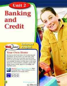Banking and Credit. Unit 2. Internet Project