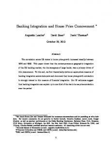 Banking Integration and House Price Comovement