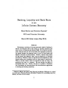 Banking, Liquidity and Bank Runs in an Infinite Horizon Economy