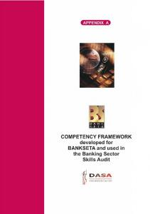 BANKING SECTOR COMPETENCE FRAMEWORK