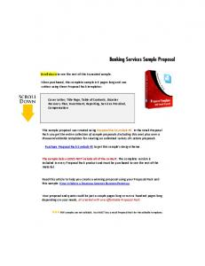 Banking Services Sample Proposal