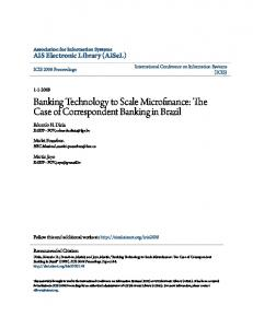 Banking Technology to Scale Microfinance: The Case of Correspondent Banking in Brazil