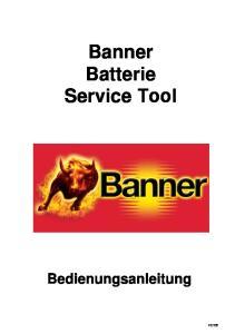 Banner Batterie Service Tool Bedienungsanleitung